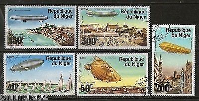 Niger 1976 Graf Zeppellin Anni. Aviation History Sc C273-77 Cancelled