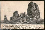 Austria 1908 Italy Ampezzo The Five Rocks View Picture Post Card to Holland #220