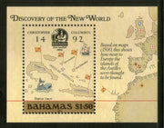 Bahamas 1988 Discovery of America by Columbus Ship Map Sc 644 M/s MNH # 1