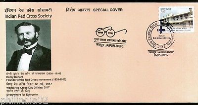 India 2017 World Red Cross Day Henry Dunant Health Special Cover # 7159
