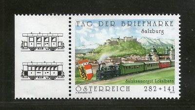 Austia 2013 Locomotive Railway Train Transport Day of the Stamp 1v MNH # 1743