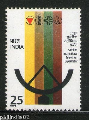 India 1975 Satellite Television Telecommunication Phila-650 MNH