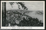 Hungary 1918 Budapest Royal Palace Bridge View Picture Post Card to Finland #1