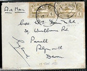 India 1931 KG V Air Mail Stamp on Cover Drigh Road Karachi to England # 1451-02