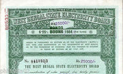 India 1984 West Bengal State Electricity Bonds 3rd Series Corrected Rs. 25K #45C