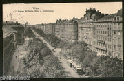 Austria 1912 Vienna Ring Road Tramways View Picture Post Card to Finland #177