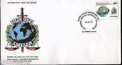 India 1997 Interpol General Assembly Session of ICPO Phila-1568 FDC