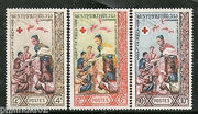 Laos 1963 International Red Cross Centenary Queen KKhamphouy Sc 85-87 MNH # 3902