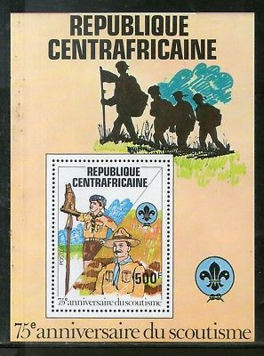 Central African Republic 1982 Scouts Baden Powell Flag M/s Sc 501 MNH # 5732