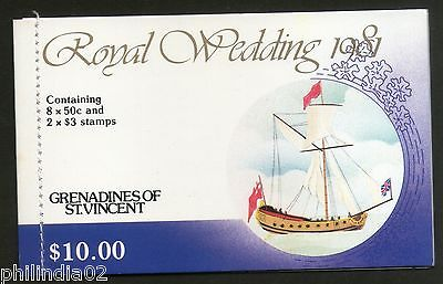 St. Vincent Gr. 1981 Princess Diana & Charles Royal Wedding $10 Booklet MNH 3547