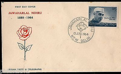 India 1964 Jawaharlal Nehru New Delhi Special Place Cancelled Phila-403 FDC