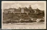 Hungary 1921 Budapest Royal Castle River View Picture Post Card Used # 197