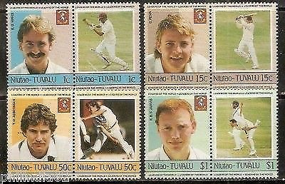 Tuvalu - Niutao 1985 Famous Cricket Players Sports 8v MNH # 3377