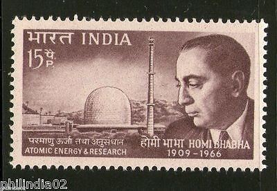 India 1966 Dr. Homi Jehangir Bhabha Scientist Phila-433 MNH