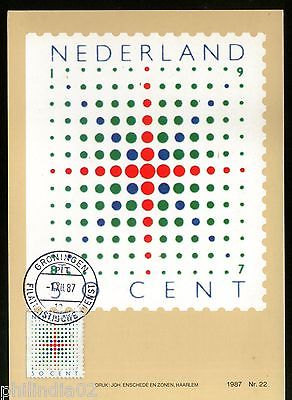 Netherlands 1987 Booklet Stamps Sc 722 Maxcard # 8092