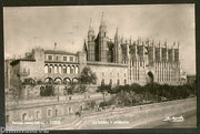 Spain 1957 Palma Mallorca Catheral & Wall View Picture Post Card to Finland #200