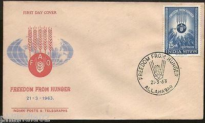India 1963 Freedom From Hunger FAO Phila-382 FDC