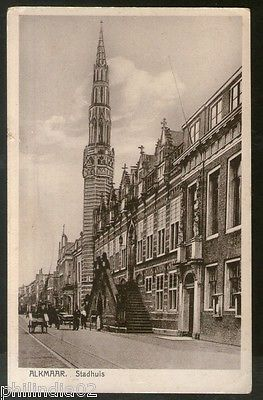 Netherlands 1936 Alkmaar City Town Hall Building View Picture Post Card # 135