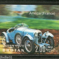 Bhutan 1971 Car Amilcar France Antique Automobiles Exotica 3D Stamp Sc128m MNH