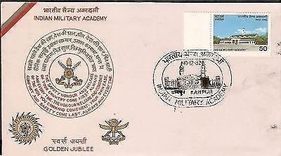 India 1982 Indian Military Academy Phila-914 FDC + FOLDER