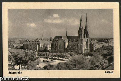 Hungary 1972 Békéscsaba Cathedral Panorama View Picture Post Card to Czech #16
