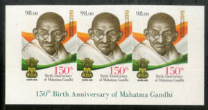 Kyrgyzstan 2019 Mahatma Gandhi of India 150th Birth Anniversary 1v Imperf Stamp Strip with Description MNH # 2082