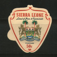 Sierra Leone Shield Odd Shaped Coat of Arms Die Cut MNH # 0214 - Phil India Stamps
