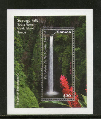Samoa 2013 Waterfalls - Sopoaga Nature 1v M/s MNH # 216 - Phil India Stamps