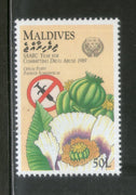 Maldives 1990 Drug Abuse Poppy Opium Health Sc 1373 MNH # 22