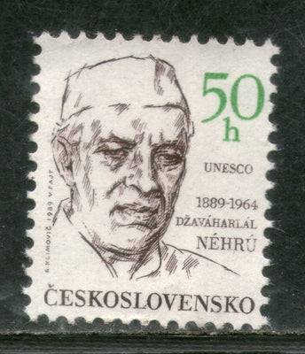 Czechoslovakia 1988 Jawaharlal Nehru of India UNESCO Sc 2735 MNH # 2464