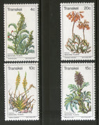 Transkei 1977 Medicinal Plants Flower Trees Flora Sc 24-27 MNH # 0261 - Phil India Stamps
