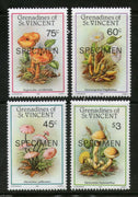 St. Vincent Grenadines 1986 Mushroom Fungi Plant SPECIMEN Sc 533-36 MNH # 269 - Phil India Stamps