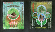 Bangladesh 2003 National Tree Plantation Campaign Environment Hand Family Sc 672-3 MNH # 2753