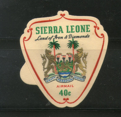 Sierra Leone 1965 40c Odd Shaped Coat of Arms Land of Iron & Diamond Sc C55 MNH # 332