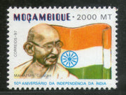 Mozambique 1997 Mahatma Gandhi Independence of India Flag Sc 1287A MNH # 3522