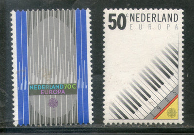 Netherlands 1985 Europa Music Piano Keyboard Organ Pipe Sc 669-70 MNH # 35 - Phil India Stamps