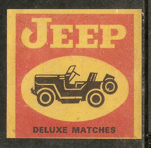 India JEEP Automobile Transport Match Box Packet Label Large Size # 3616 - Phil India Stamps