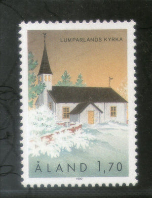 Aland 1990 St. Andrew Church Lumparland Architecture Sc 39 MNH # 364
