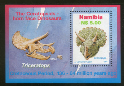 Namibia 1997  Triceratops Dinosours Prehistoric Animals M/s Sc 847 MNH # 371