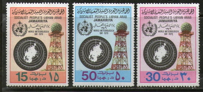 Libya 1979 World Meteorological Day Whether Map & Tower Climate Sc 817-19 MNH # 372