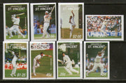 St. Vincent Gr. 1988 Famous Cricketers Sc 606-13 Imperforated Proof Set MNH # 3863