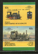 St. Vincent Gr. Bequia 1987 KBSt.B 1880 Germany Locomotive Sc 14 Imperf MNH