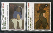 Greenland 1997 Paintings by Aage Gitz-Johansen Sc 325-26 MNH # 405