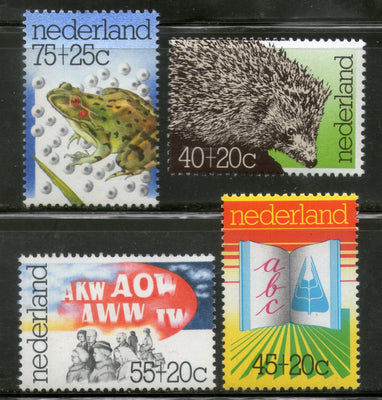 Netherlands 1976 Wildlife protection Frog Agricultural Education Sc B517-20 MNH # 4161