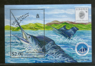 Solomon Islands 1998 International Ocean Year Game Fishes M/s Sc 865a MNH # 447