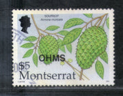 Montserrat 2002 Friuts Soursops O/p OHMS High Value $5 Sc O154 Used Stamp # 458