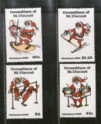 St. Vincent Grenadines 1986 Christmas Celebration SPECIMEN Sc 564-67 MNH # 0461