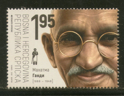 Bosnia & Herzegovina 2019 Mahatma Gandhi of India 150th Birth Anniversary 1v MNH # 463A