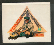 Tonga 1980 Rotary International Scouts Odd Shaped Sc 477 MNH stamp # 466