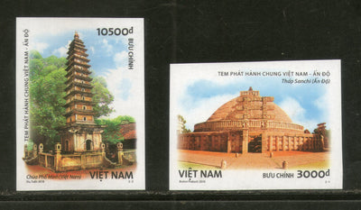Vietnam 2018 India Joints Issue Ancient Arch Sanchi Stupa Pho Minh IMPERF MNH # 46